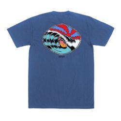 Dark Seas Tarpits Pigment T-Shirt - Mystic Blue