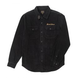 Dark Seas Bricklayer Corduroy Shirt - Black