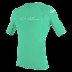 O'Neill Youth Basic Skins Short Sleeve Rash Vest 2021 - Light Aqua