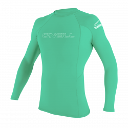 O'Neill Youth Basic Skins Long Sleeve Rash Vest 2021 - Light Aqua
