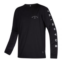 Mystic The One Long Sleeve Quickdry Mens Rash Vest - Black