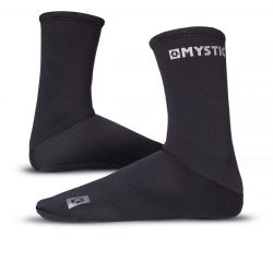 Mystic Neoprene Socks Semi Dry 2021 - Black Front and Inside View