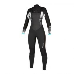 Mystic Diva 3/2mm Double Front Zip Womens Summer Wetsuit - Black