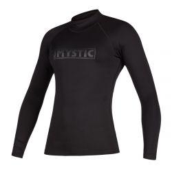 Mystic Star Womens Long Sleeve Rash Vest - Black - Front