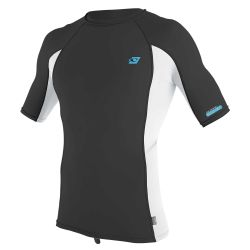 O'Neill Premium Skins Mens UV50+ Rash Guard  - Raven / White