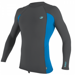 O'Neill Premium Skins Long Sleeve Mens Rash Vest 2021 - Smoke