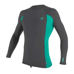 O'Neill Premium Skins L/Sleeve Youth Rash Guard 2021 - Smoke