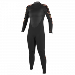 O'Neill Epic 3/2mm Womens Summer Wetsuit 2021 - Black/Flo