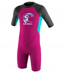 O'Neill Toddlers 2mm Reactor Girls Shorty Wetsuit 2017