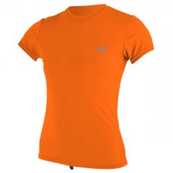 O'Neill Premium Skins Womens Sun Shirt 2021 - Papaya