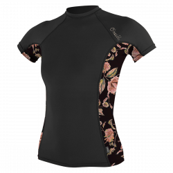 O'Neill Side Print Womens Rash Vest 2021 - Black