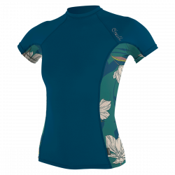 O'Neill Side Print Short Sleeve Womens Rash Vest 2021 - French Navy