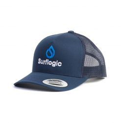 Surf Logic Curve Trucker Cap - Navy  - Full View