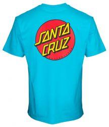 Santa Cruz 'Classic Dot Chest' Tee - 'Aqua'