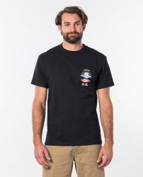 Rip Curl 'Search Icon' T-Shirt - 'Black'