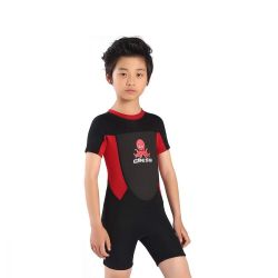 Cressi Smoby Junior Shorty Wetsuit 2021 - Black/Red - Front