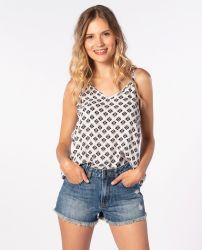 Rip Curl Women's 'Odesha Geo' Shirt - 'White'
