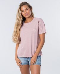 Rip Curl Women's 'The Searchers' T-Shirt - 'Dusk Pink'