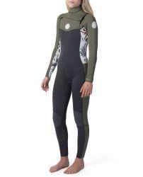 Rip Curl Dawn Patrol 3/2mm Chest Zip Womens Wetsuit - White