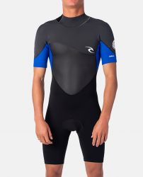 Rip Curl Omega 1.5mm Shorty Wetsuit 2020 - Blue/Black