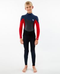 Rip Curl Junior Omega 3/2mm Winter Wetsuit - Slate - Front