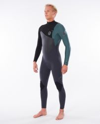 Rip Curl Flash Bomb 4/3mm Chest Zip Wetsuit 2021 - Green