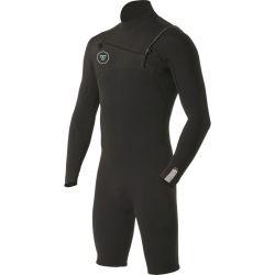 Vissla Mens 7 Seas 2/2 Spring Wetsuit - Black front