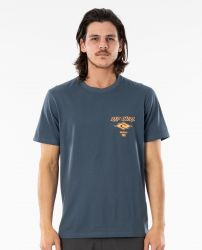Rip Curl 'Fadeout Essential' Tee - 'Washed Navy'