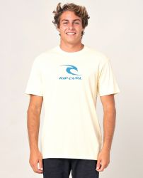 Rip Curl 'Icon Used' Tee - 'Pale Yellow'