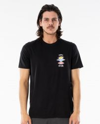 Rip Curl Search Essential Mens T Shirt in Black