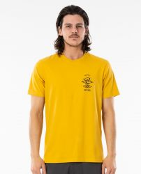 Rip Curl Search Essential Mens T Shirt - Mustard