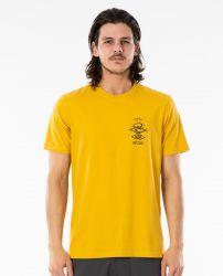 Rip Curl Search Essential Mens T Shirt - Mustard