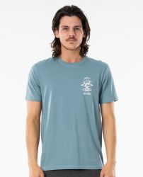 Rip Curl Search Essential Mens T Shirt - Mid Blue