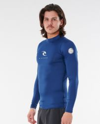 Rip Curl Corpo Long Sleeve Mens Rash Vest 2021 - Navy