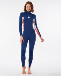 Rip Curl Dawn Patrol 3/2mm Chest Zip Womens Wetsuit 2021 - Blue