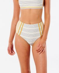 Rip Curl Women's 'Salty Daze' High Waisted Bikini Pant - 'Gold'
