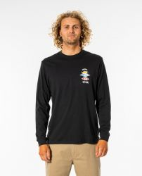 Rip Curl 'Search Essential' Longsleeve Tee - 'Black'