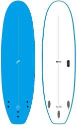Foamie Flow Rider 8ft Extra Wide Foam Surfboard - Blue/White