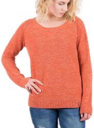 Passenger Maple Knit Womens Jumper - Orange Rust