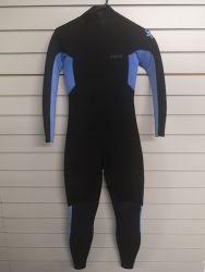 C Skins Session 5/4mm Junior Chest Zip Winter Wetsuit - Black/Purple - Front
