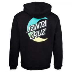 Santa Cruz Moon Dot Fade Pullover Hoody - Black - back