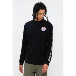 Santa Cruz Mixed Up Dot Faded Mens Long Sleeve T-Shirt 2021 - Black - Front