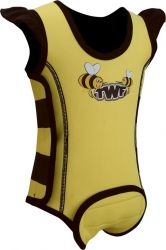 TWF 2mm Baby Wrap Wetsuit  -  Bee Yellow 2017