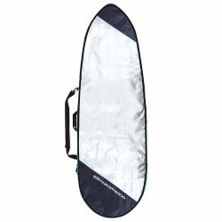 Ocean & Earth Barry Basic 5'8 Fish Board Bag Cover 2021 - Silver - Front View