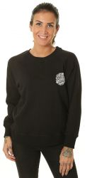 Santa Cruz Women's Sweatshirt Cali Poppy Crew 2021 - Black  - Front