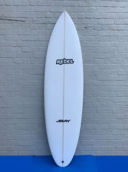 Rebel Bean PU Surfboard - White