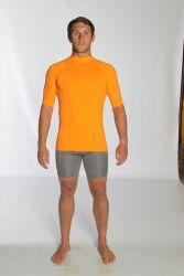 C Skins UV Junior Short Sleeve Blank Rash Vest - Orange