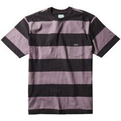 Vissla Creators Block Stripe Mens Eco T-Shirt - Dusty Lilac