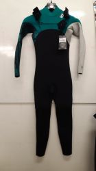 C Skins Session 3/2mm Junior Chest Zip Summer Wetsuit - Raven Black - front