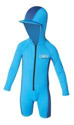 C Skins UV Long Sleeve Kids Hooded Sun Swimsuit - Blue